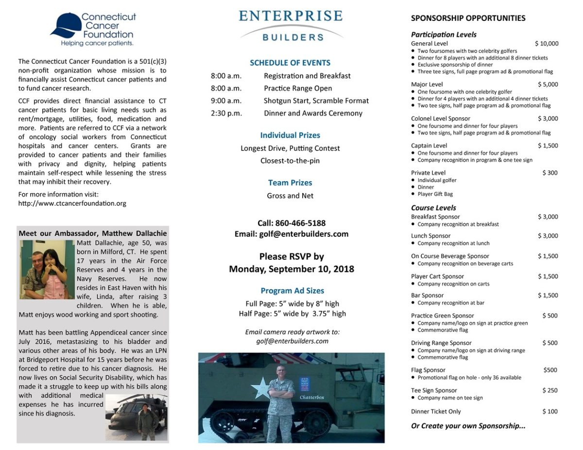 EBI's 7th Annual Charity Golf Tournament – Enterprise Builders